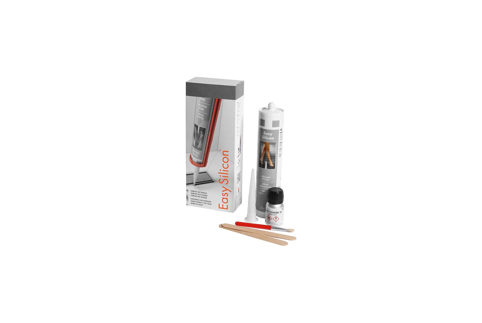 Droogtijd Siliconenkit Badkamer : Easy silicon rvs kleur easy drain
