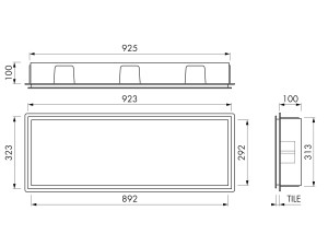 Container BOX 90x30x10 LED