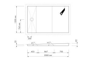 Easy Drain Shower Board Ital Aqua 1