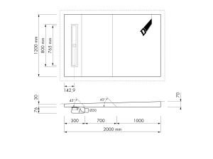 Easy Drain Shower Board Ital Aqua Line