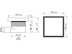 Easy Drain Aqua Quattro Tile MSI 6 15x15