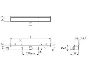 Easy Drain Compact 30 Wall