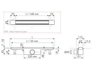 Easy Drain Modulo Design Z-2 M1-50