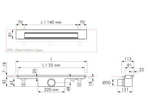 Easy Drain Modulo Design Z-3 M1-50