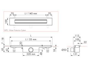 Easy Drain Modulo Design Z-4 M1-50