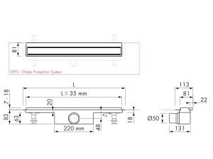 Easy Drain Modulo TAF Wall M1-50