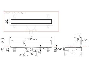 Easy Drain Modulo Stone M2-35