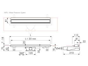 Easy Drain Modulo TAF Wall M2-35