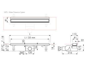 Easy Drain Modulo TAF Wall M2-50