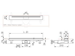 Easy Drain Nano M2-35 Wall
