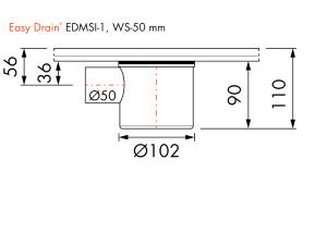 Easy Drain Siphon EDMSI 1 WS50