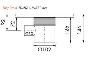 Easy Drain Siphon EDMSI 1 WS70