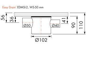 Easy Drain Siphon EDMSI 2 WS50