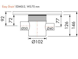Easy Drain Siphon EDMSI 2 WS70