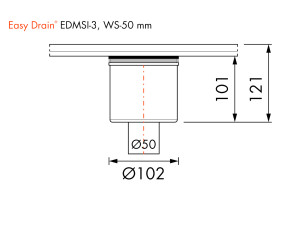Easy Drain Siphon EDMSI 3 WS50