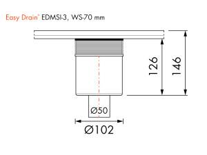 Easy Drain Siphon EDMSI 3 WS70