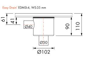 Easy Drain Siphon EDMSI 4 WS35