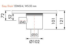 Easy Drain Siphon EDMSI 4 WS50