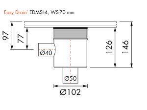 Easy Drain Siphon EDMSI 4 WS70