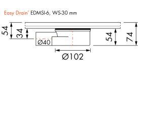 Easy Drain Siphon EDMSI 6 WS25