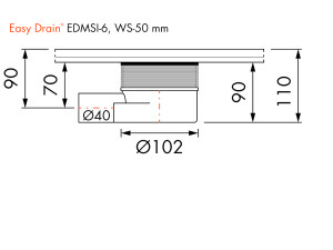 Easy Drain Siphon EDMSI 6 WS50