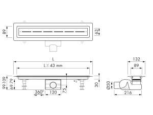 Easy Drain Vinyl Drain M2-50