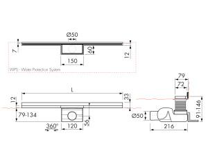 Easy Drain Waterstop Wall M2-50