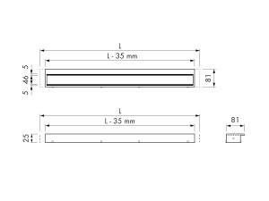 Easy Drain Modulo TAF Wall Rost
