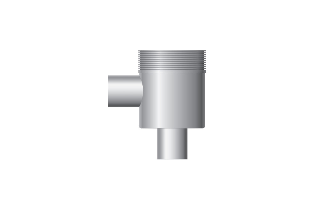 Vertical outlet, outlet 50 mm, inlet 50 mm for sink connection
