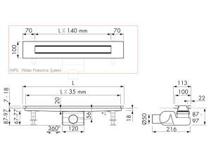 Easy Drain Modulo Design Z-4 M2-50
