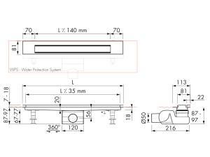 Easy Drain Modulo Design Z-3 M2-50