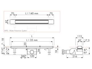 Easy Drain Modulo Design Z-2 M2-50