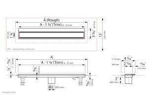 Easy Drain Modulo Wall EDM4 Complete [USA]