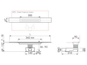 Easy Drain R line M2-35 Wall