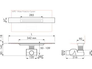 Easy Drain R line M2-50 Wall