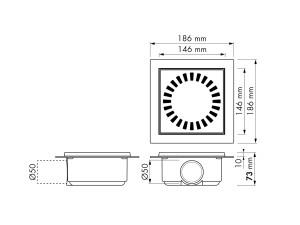 Easy Drain Aqua Compact 50 Flange