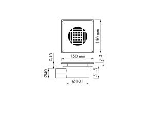 Easy Drain Aqua Power 15x15 Z