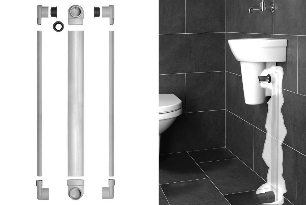Platte Afvoerbuis Toilet : Sta 10 easy drain