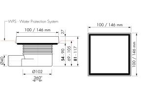 Easy Drain Aqua Quattro Tile MSI6