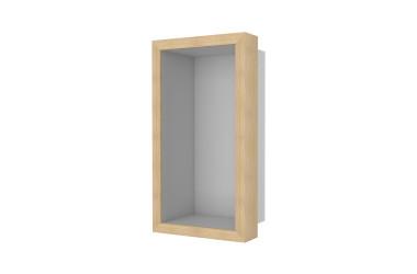 Container W-BOX (Edelstahl gebürstet | Oak – Natürlich Rahmen)