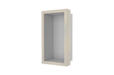Container W-BOX (Edelstahl | Oak – Weisgewaschen Rahmen)