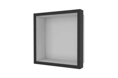 Container W-BOX (Edelstahl gebürstet | Oak – Ebenholz Rahmen)